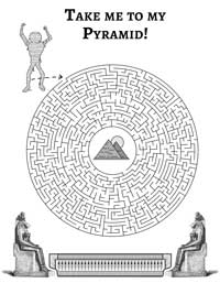 Egyptian Mazes Print and Play